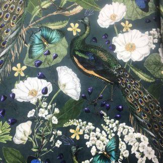 Peacock Deluxe velvet fabric