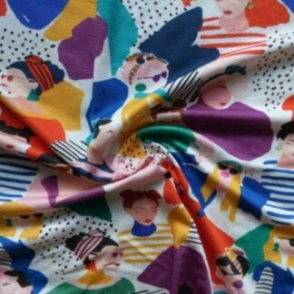 Fashion focussed crepe jersey fabric