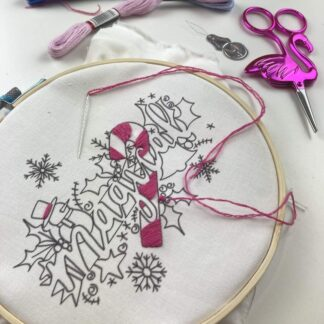 magical embroidery hoop and design with threads
