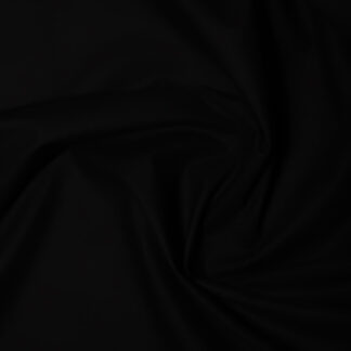 black polycotton fabric