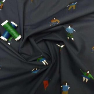 Cartwheel print cotton lawn fabric 2