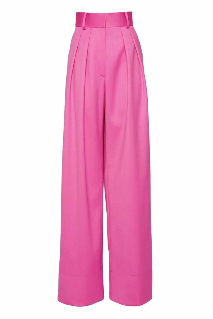 Brandon maxwell pink trousers