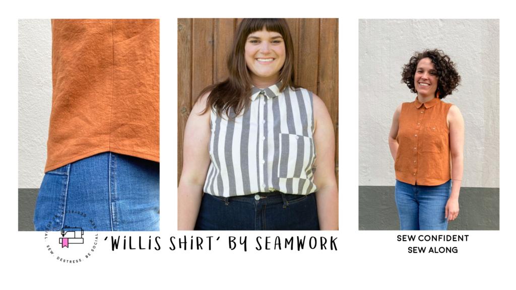 Online Sew Along - willis shirt sewing pattern