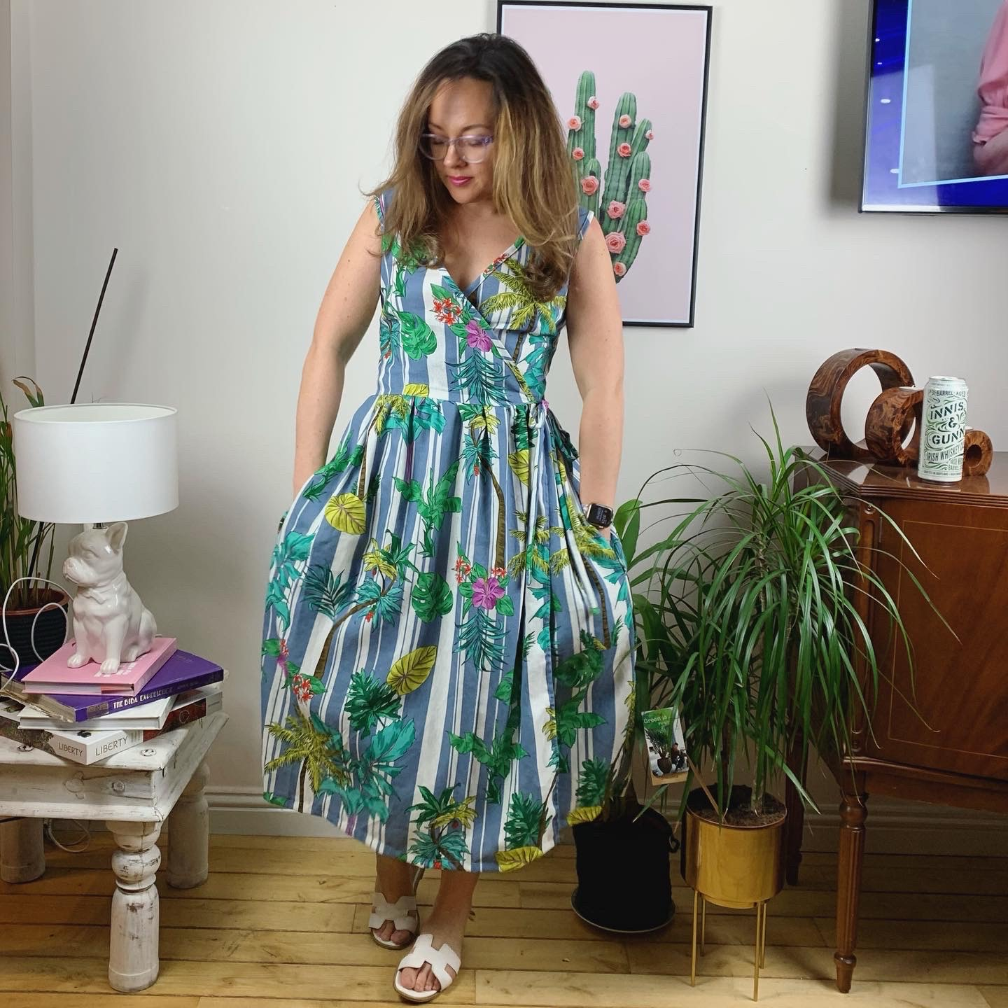 sew along hannah dress - 21st of june outfit